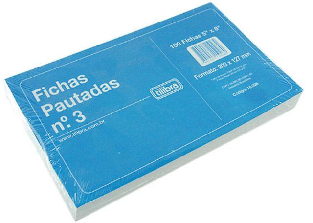 FICHA PAUTADA 5X8 N3 100P 150282