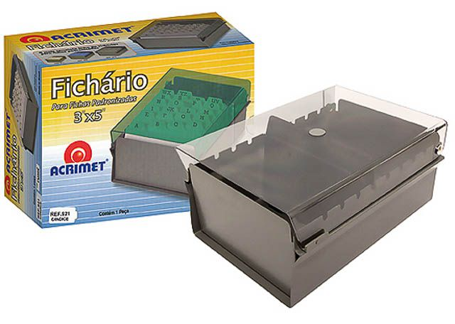 FICHARIO ACRIMET C/IND 3X5 FUME 921-1