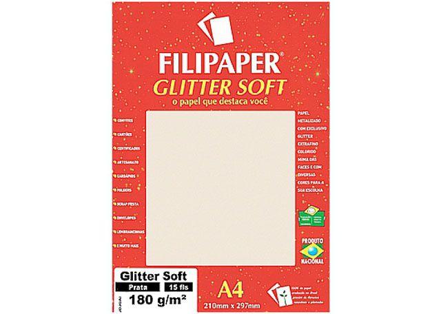 FILIPAPER GLITT SOFT 180G 15F PRATA 1302