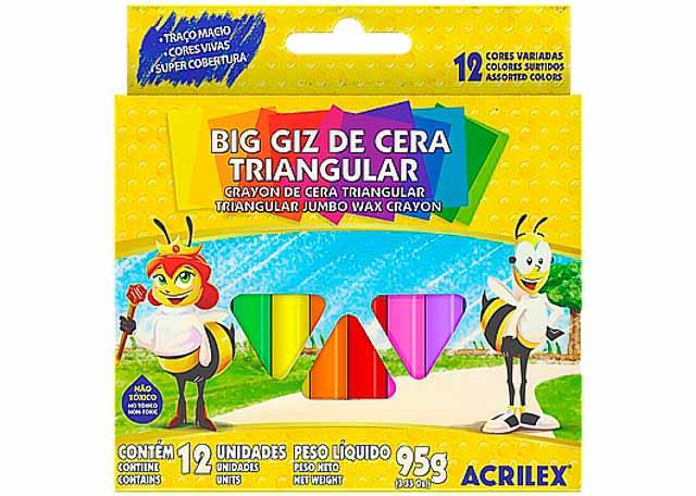 GIZ CERA ACRILEX BIG TRIA 12 PEÇAS 9312