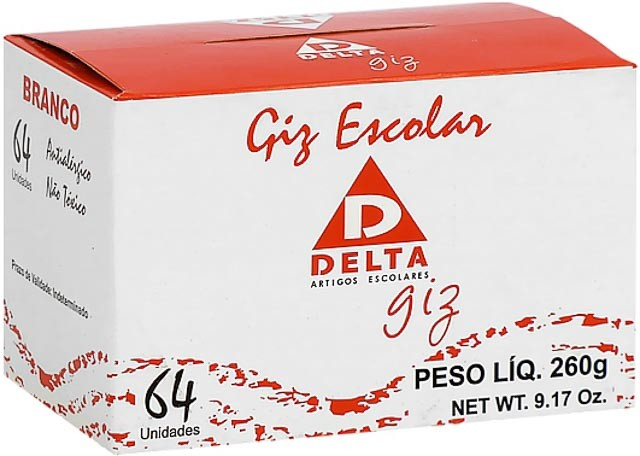 GIZ ESCOLAR DELTA BRANCO 64 PEÇAS 002