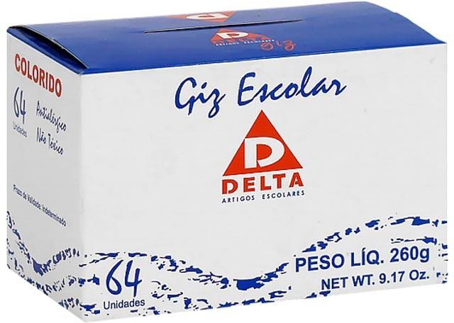 GIZ ESCOLAR DELTA COLORIDO 64 PEÇAS 004
