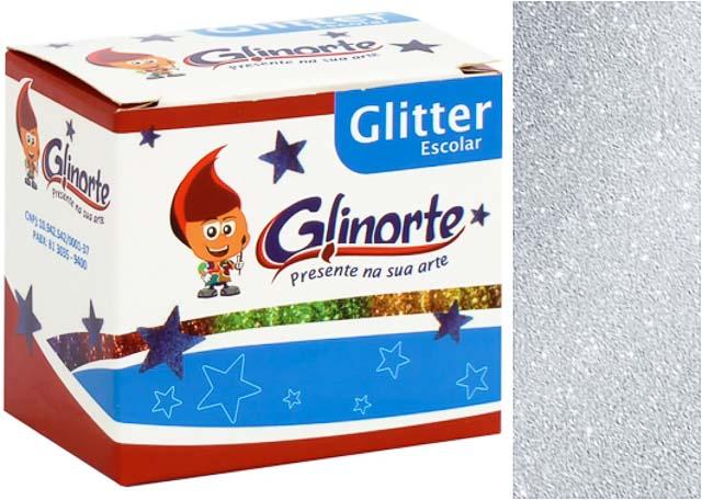 GLITTER ESCOLAR GLINORTE PRATA 084