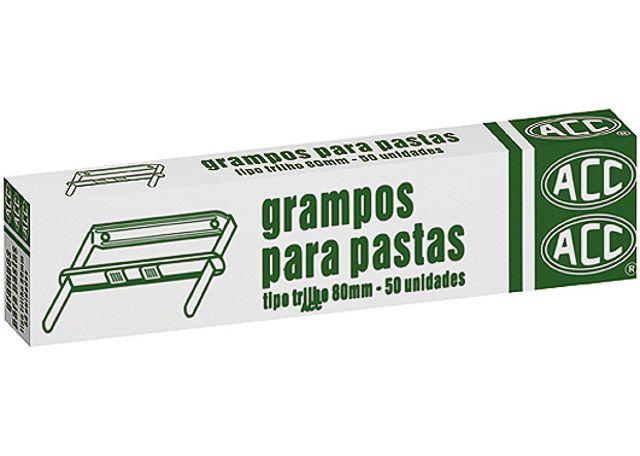 GRAMPO ACC P/PASTA TRILHO 80MM 50P