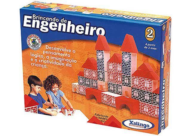 JOGO XALINGO BRINCANDO DE ENGENHEIRO 2 53 PEÇAS 5276-5