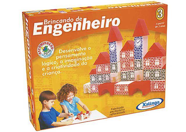 JOGO XALINGO BRINCANDO DE ENGENHEIRO 3 73 PEÇAS 5277-6