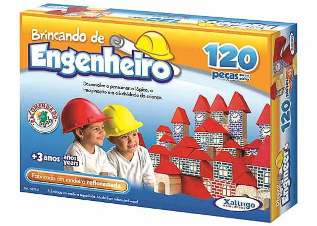 JOGO XALINGO BRINCANDO DE ENGENHEIRO 4 120 PEÇAS 5279-8
