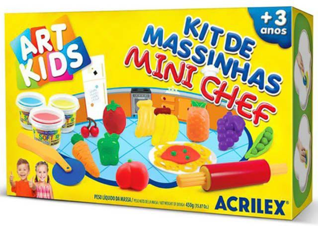 KIT DE MASSINHAS MINI CHEF 40008