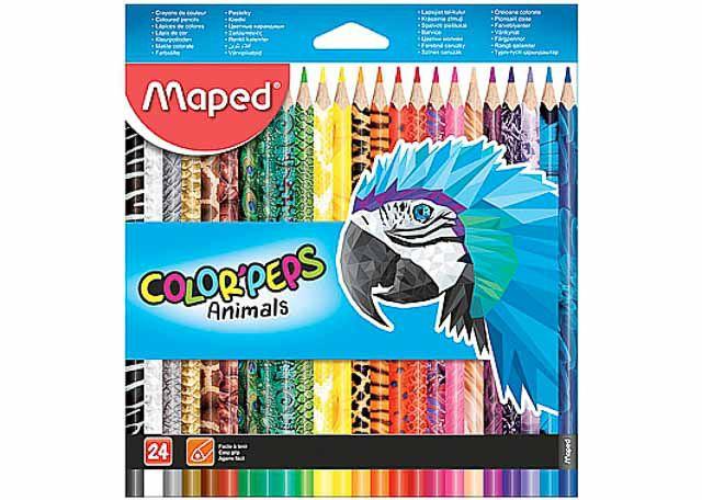 LAPIS COR MAPED ANIMALS 24C 832224