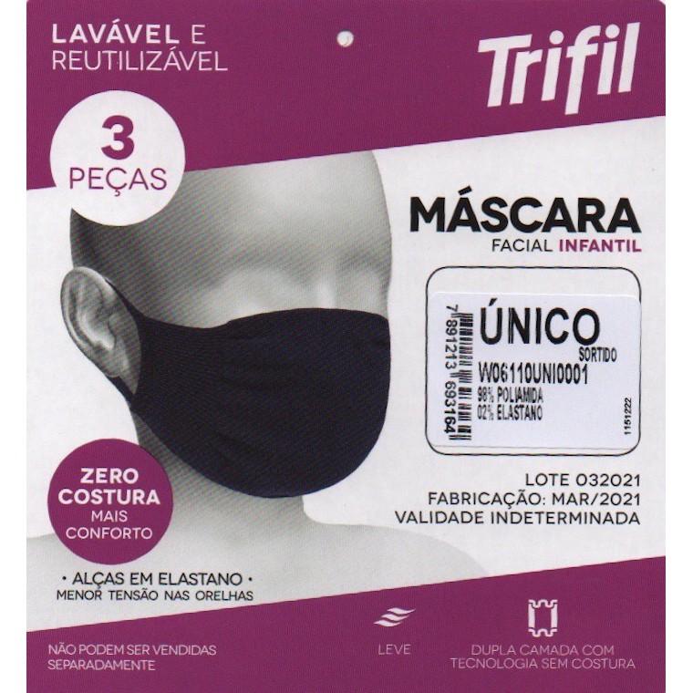 MASCARA TRIFIL 3 PEÇAS INFANTIL 6110