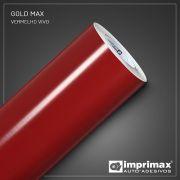 Adesivo Gold Max Fosco Vermelho Vivo 1,22m x 1,00m
