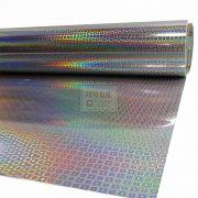 Adesivo Holografico Quadrado 0,50m x 1,00m
