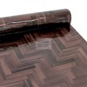 Adesivo Lavável Brilho Chevron Wood 0,58 x 1,00m