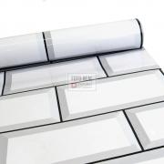Adesivo Lavável Brilho Metro Branco 0,58 x 1,00m