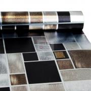 Adesivo Lavável Pastinha Metálica Mosaico Escovado 0,58 x 1,00m