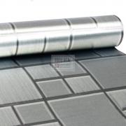 Adesivo Lavável Pastinha Metálica Prata 0,58 x 1,00m