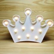 Luminária Led Coroa Branco