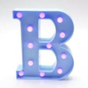 Luminária Led Letra B Azul