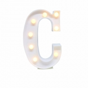 Luminária Led Letra C Branco