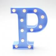 Luminária Led Letra P Azul