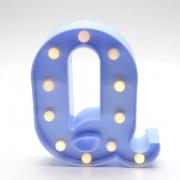 Luminária Led Letra Q Azul