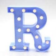 Luminária Led Letra R Azul