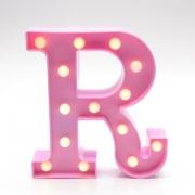 Luminária Led Letra R Rosa