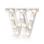 Luminária Led Letra W Branco