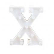 Luminária Led Letra X Branco