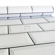 Papel de Parede Tacolado Metro Branco 0,47 x 2,60m