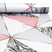 Papel de Parede Tacolado Zara Marmore Rose 0,47 x 2,60m