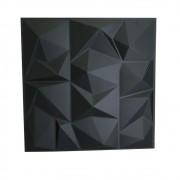 Placa 3D Autoadesiva Revestimento Dark Poly 0,50 x 0,50cm