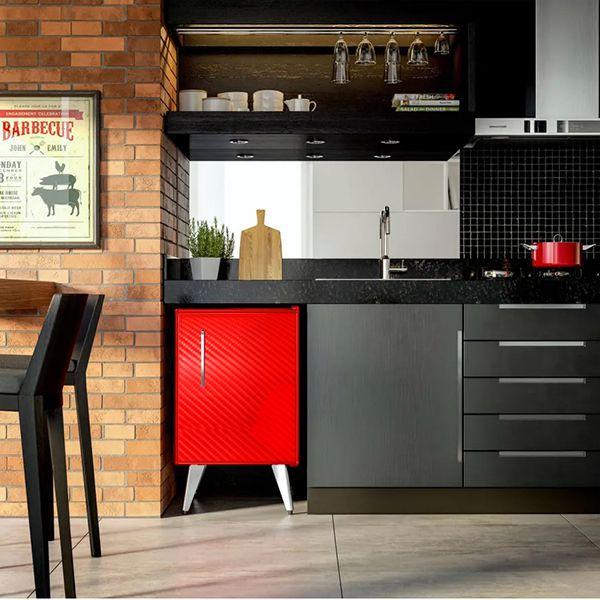 Adesivo Alltak Fibra Carbono 4D Vermelho 1,50m x 1,00m