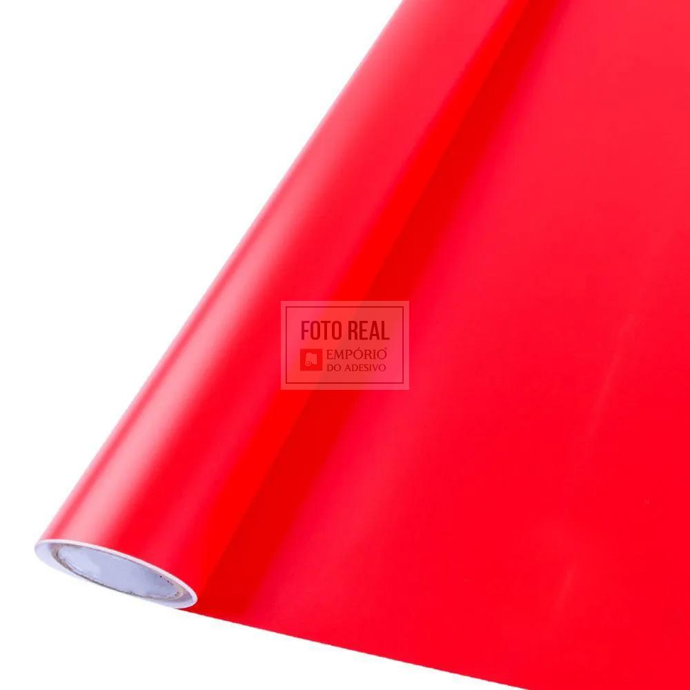 Adesivo Alltak Satin Fosco Vermelho Vivo 1,38m x 1,00m
