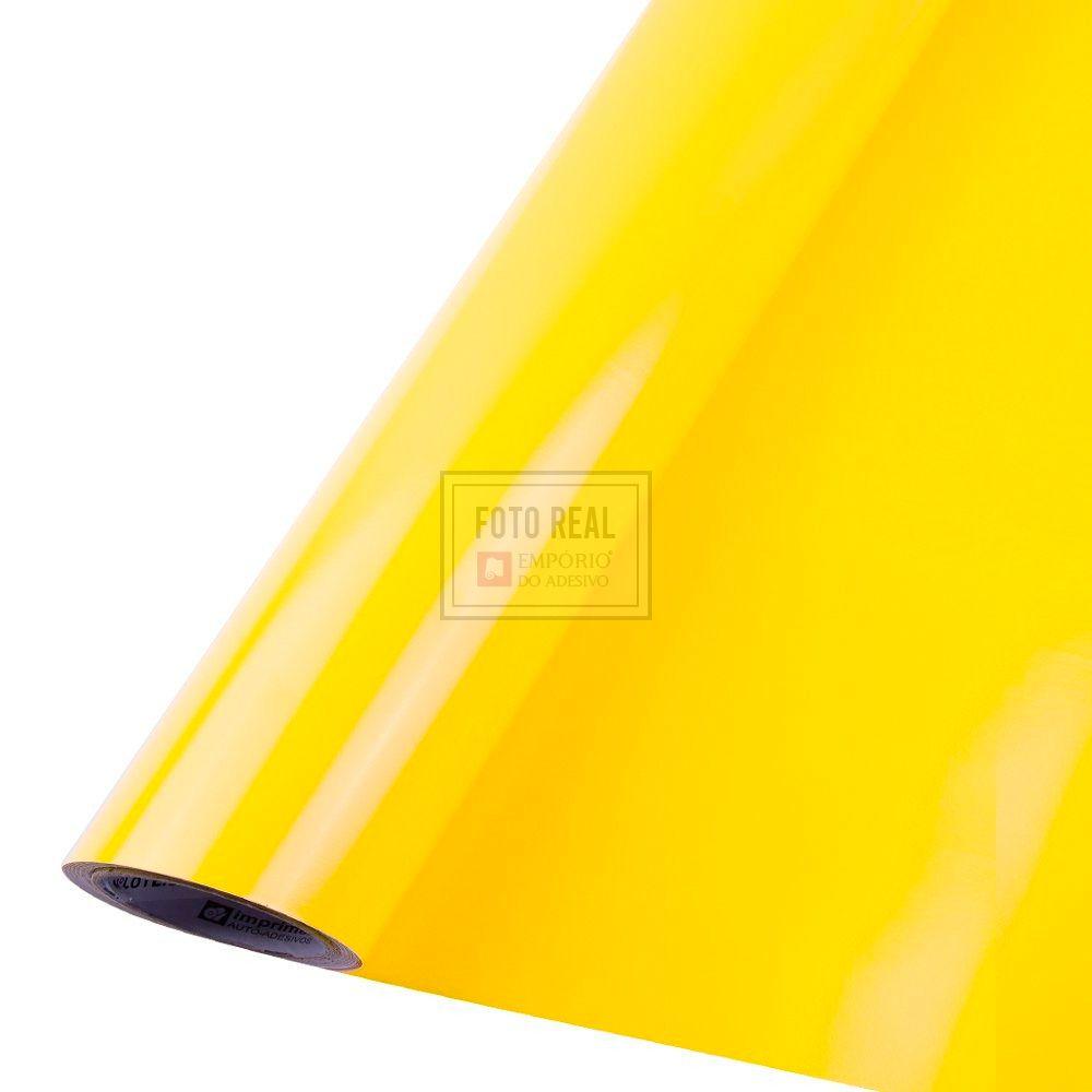Adesivo Colormax Brilho Amarelo Medio 1,00m x 1,00m