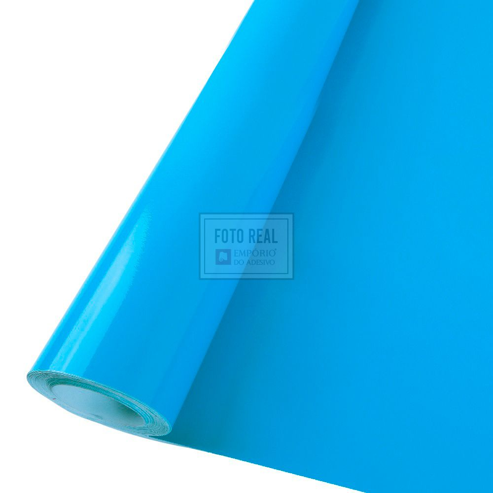 Adesivo Colormax Brilho Azul Ceu 1,00m x 1,00m