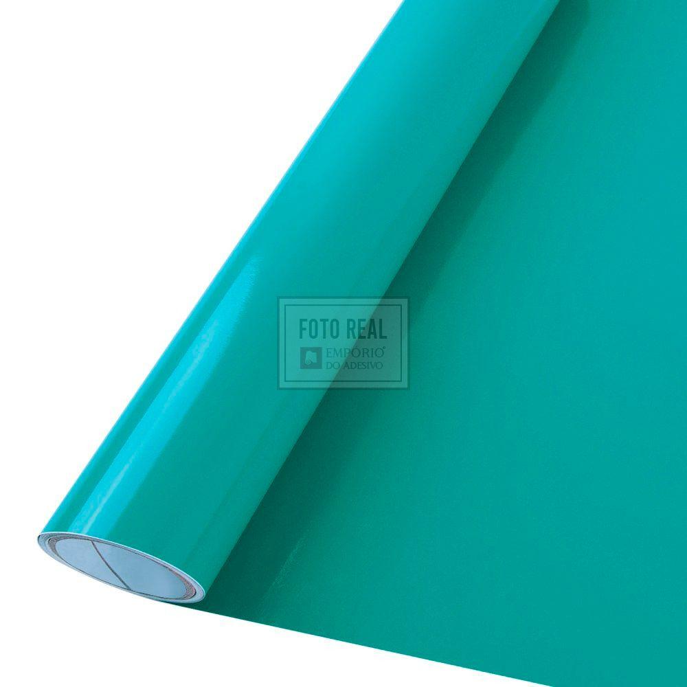 Adesivo Colormax Brilho Verde Turquesa 1,00m x 1,00m