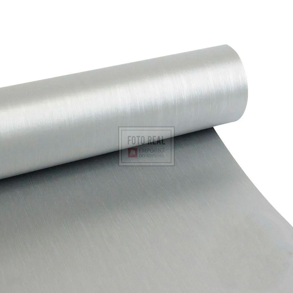 Adesivo Colormax Escovado Prata 1,00m x 1,00m