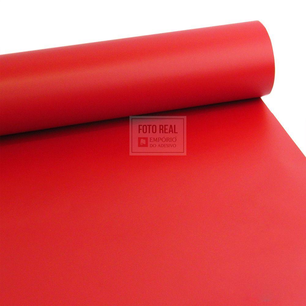 Adesivo Colormax Fosco Vermelho Vivo 1,00m x 1,00m