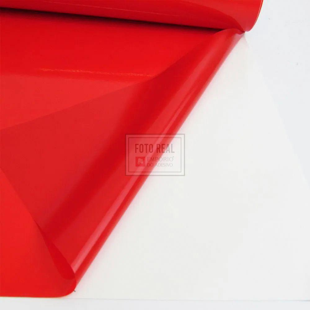 Adesivo Cristal Color Vermelho 1,06m x 1,00m