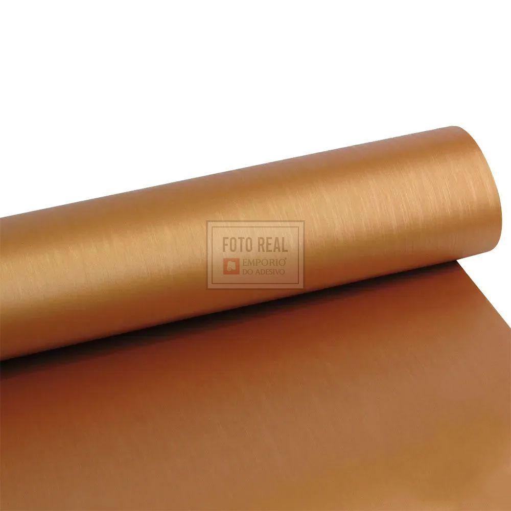 Adesivo Gold Escovado Bronze 1,22m x 1,00m