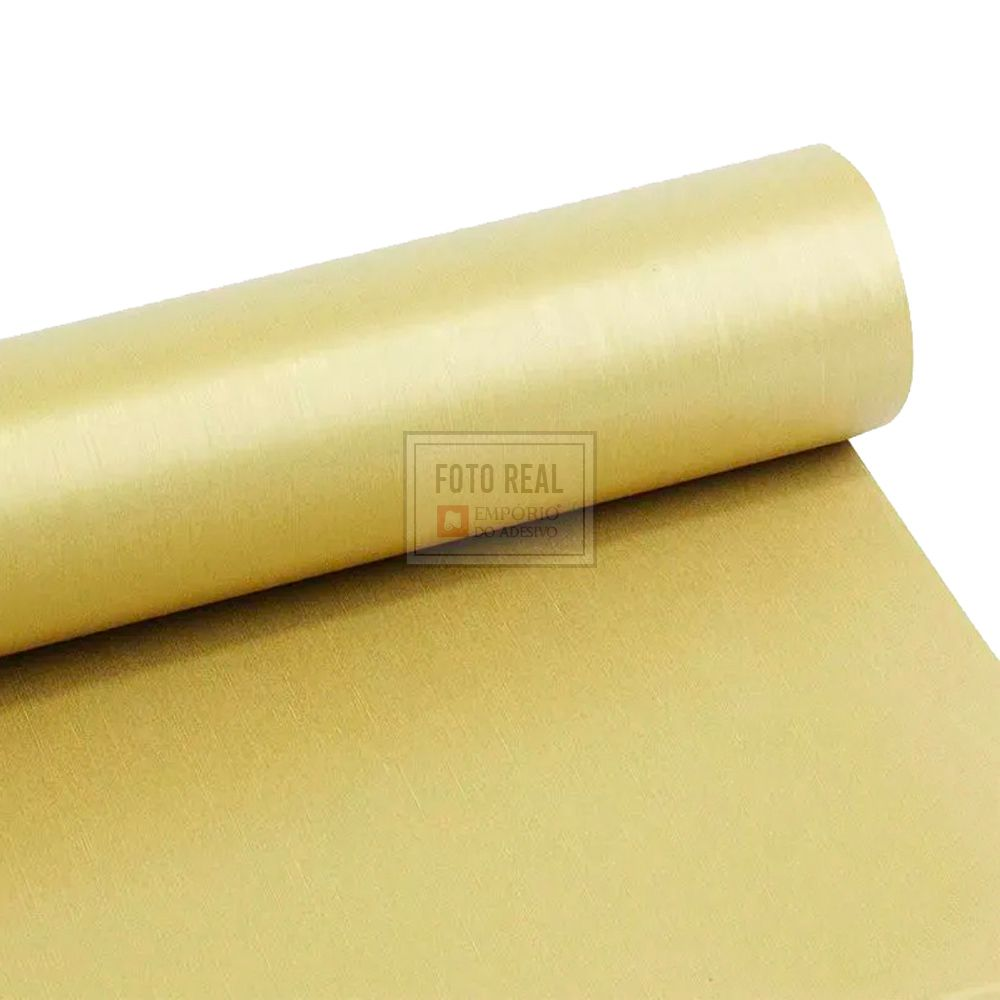 Adesivo Gold Escovado Ouro 1,22m x 1,00m