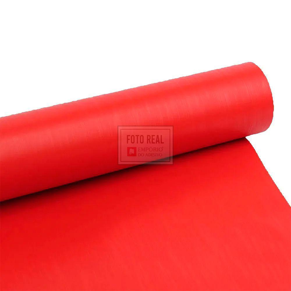Adesivo Gold Escovado Vermelho 1,22m x 1,00m