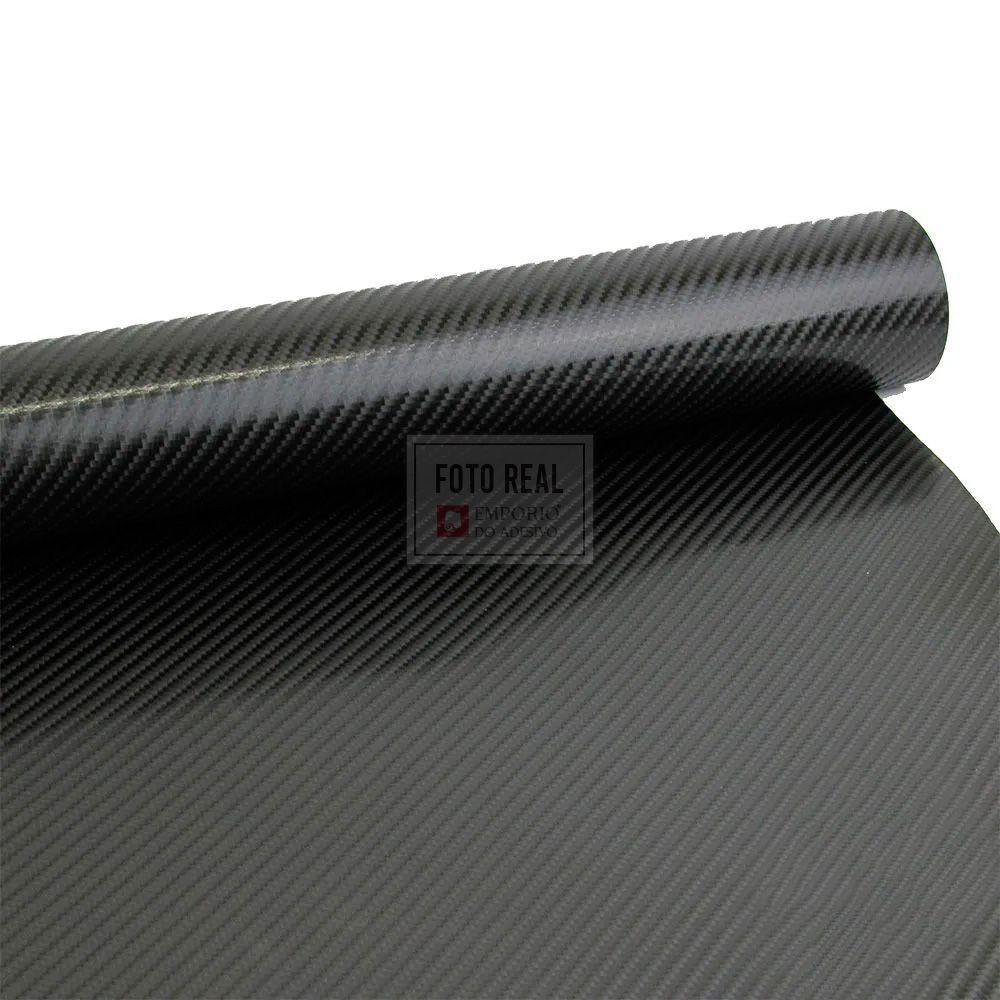 Adesivo Gold Fibra Carbono Preto 1,40m x 1,00m