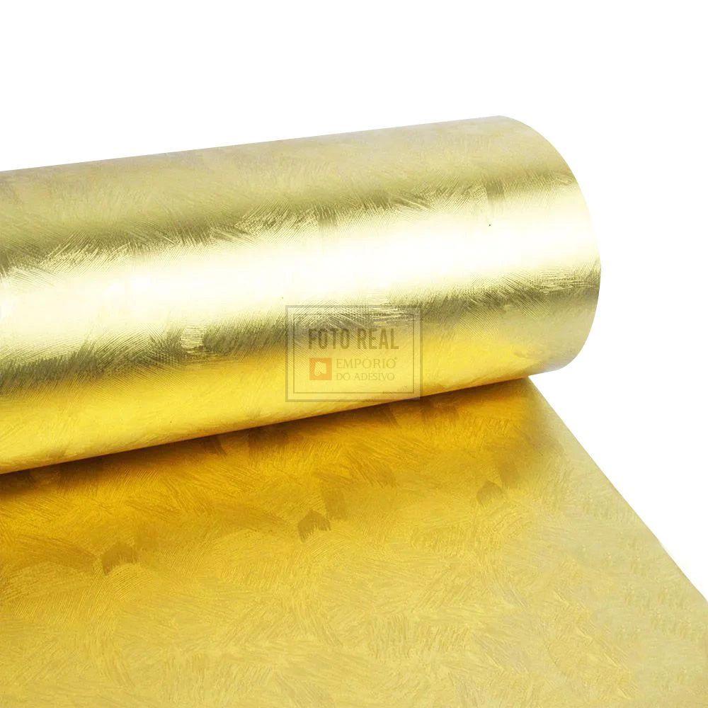 Adesivo Gold Metallic Artistico Ouro 1,06m x 1,00m