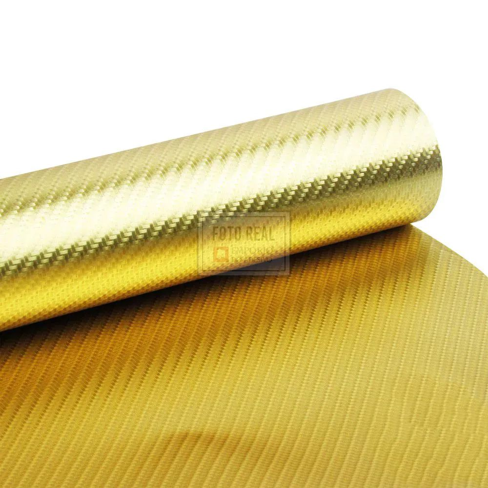 Adesivo Gold Metallic Fibra 4D Ouro 1,06m x 1,00m