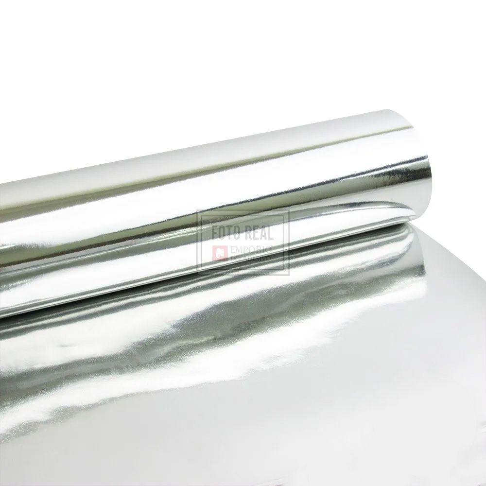 Adesivo Gold Metallic Liso Prata 1,06m x 1,00m