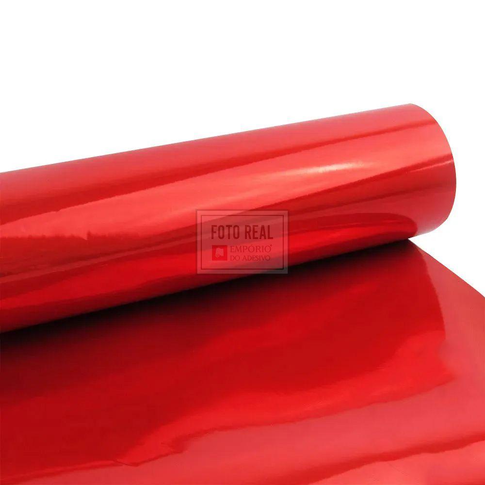 Adesivo Gold Metallic Liso Vermelho 1,06m x 1,00m