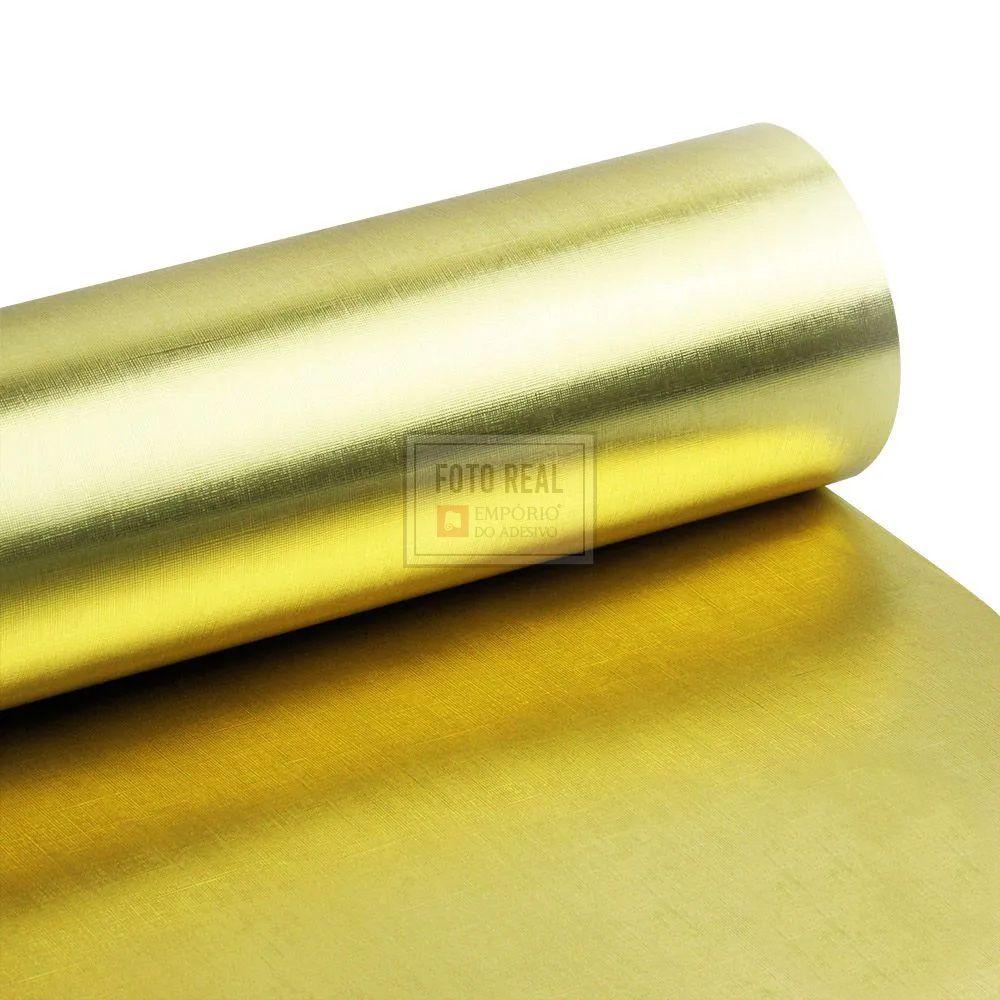 Adesivo Gold Metallic Telado Ouro 1,06m x 1,00m