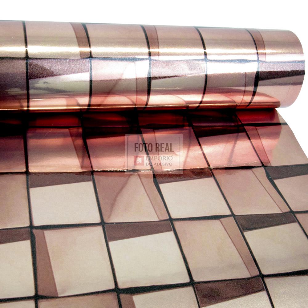 Adesivo Lavável Pastinha Metálica Rose 0,58 x 1,00m